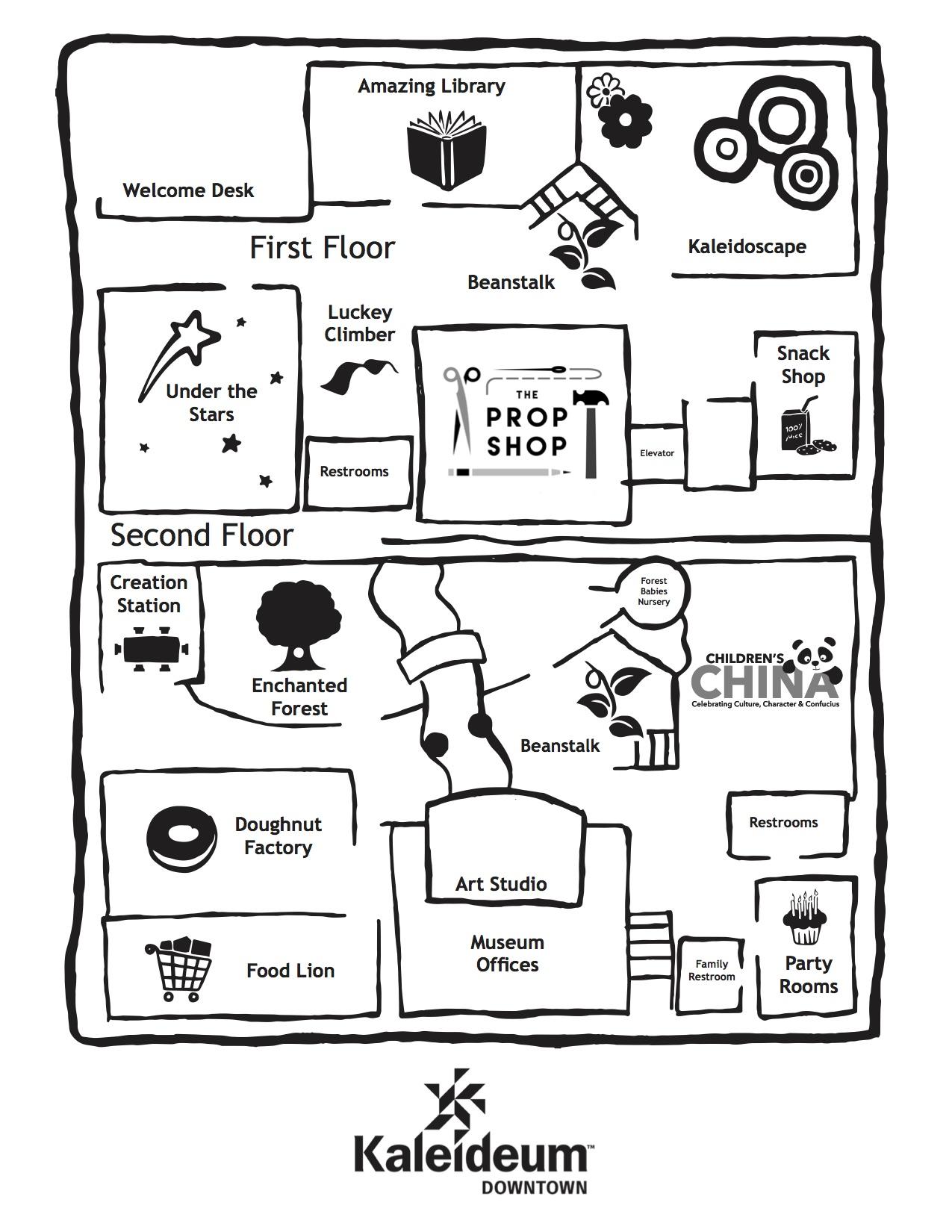 Kaleideum Downtown Map